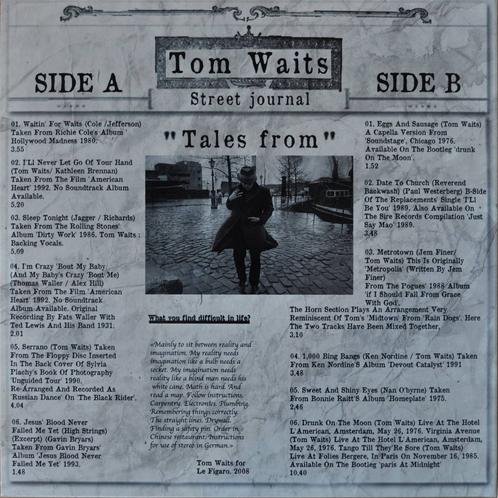 Tom Waits Tales From The Underground Vol 2 Vinyl Bootleg