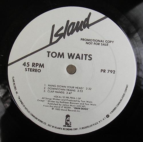 Tom Waits A Conversation With Tom Waits 45rpm Vinyl