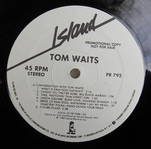 Tom Waits A Conversation With Tom Waits 45rpm Vinyl
